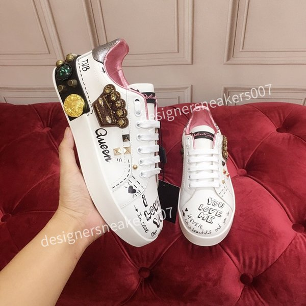 new Womans arrival Casual Shoes White Black Red Fashion Mens Women Leather Breathable Shoes Open Low sports Sneakers hc191007