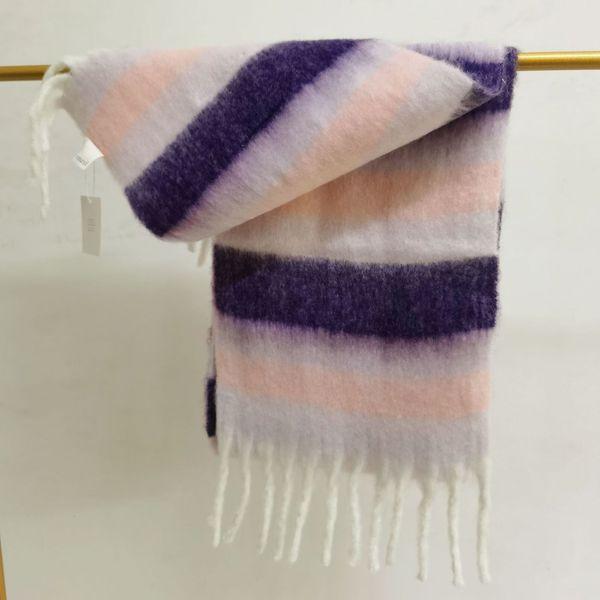 Stripe rosa lila weiß-25x220 cm