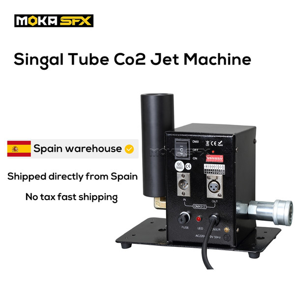 top popular Spain Stock 2pcs lot Mini CO2 Jet DMX Control Co2 Smoke Machine co2 Jet Cannon For DJ Concert Bar Stage Effect 2021