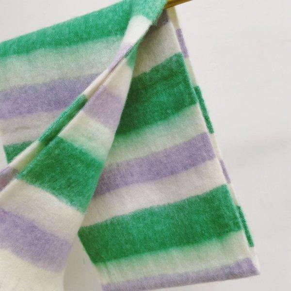 Stripe grün lila weiß-25x220cm