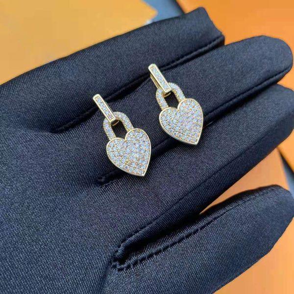 top popular High quality fashion earrings dangle luxury jewelry women hip hop Diamond Pearl CZ rock punk wedding gift 2021