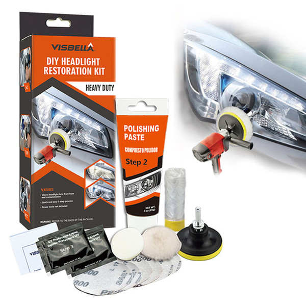 top popular utomobiles & Motorcycles VISBELLA Headlamp Repair Headlight Restoration Polishing Kits Light Polish Paste Systems Car Care Wash Brightene... 2021