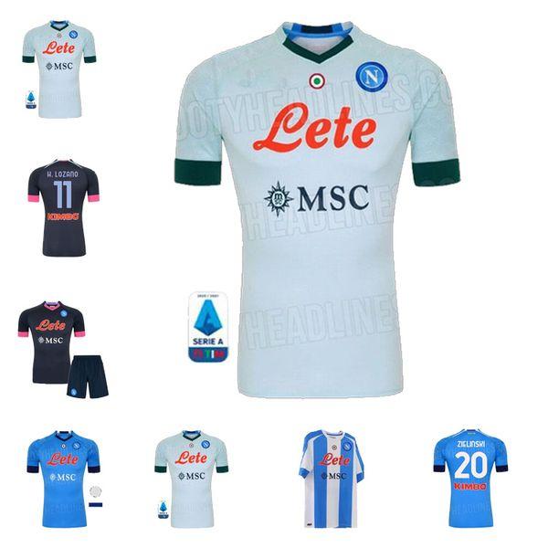 20 21 Napoli Blue away Black INSIGNE MERTENS Men soccer jersey KOULIBALY MILIK H.LOZANO HAMSIK Naples camiseta de fútbol football shirt 2021