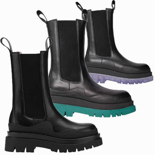 2021 Classic Bottega-booties TIRE BOOTS Man women platform chunky boot lady boot luxury designer women boots Mid-Calf designer boots 39--45