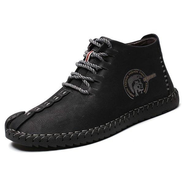 Black lace-up