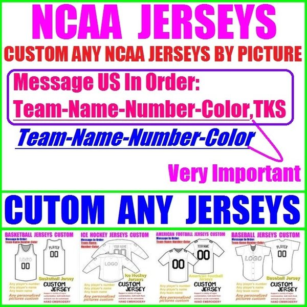 CUSTOM ANY NCAA JERSEY