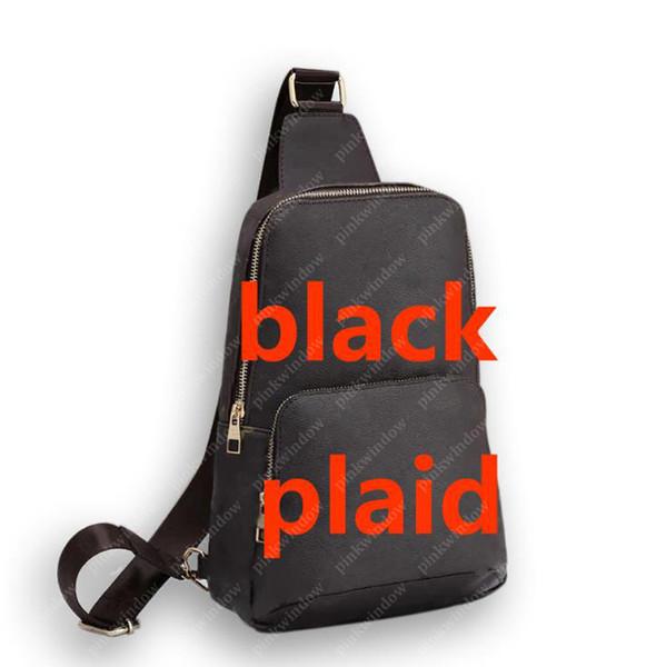 schwarzes Plaid