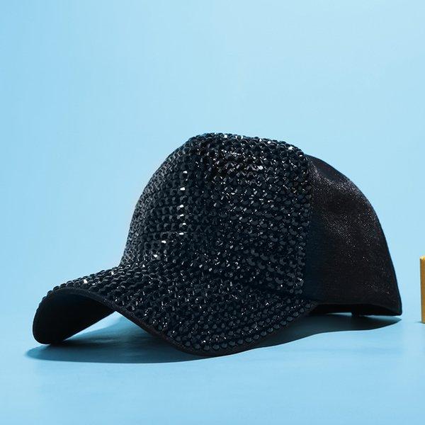 Schwarz + schwarze Diamant-Tuch-Kappe