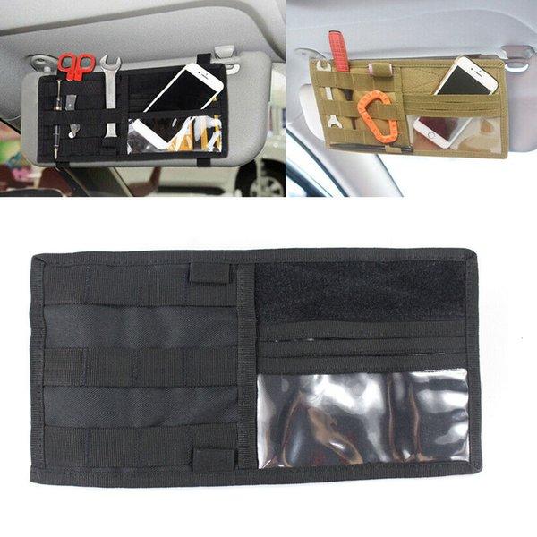 best selling MOLLE Tactical Vehicle Visor Panel Truck Car Sun Visor Organizer CD Bag Holder