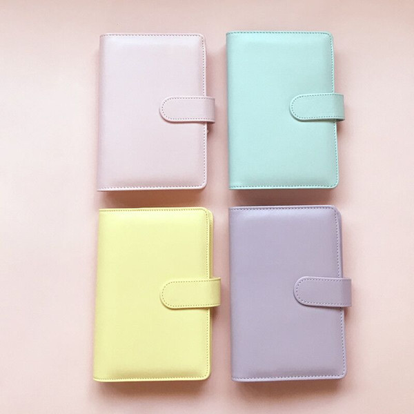 top popular A6 NoteBook Cover Multicolor Book Sleeves Diary Covers Macaron Style Leather Cover Wholesale School Office Supplies 2021