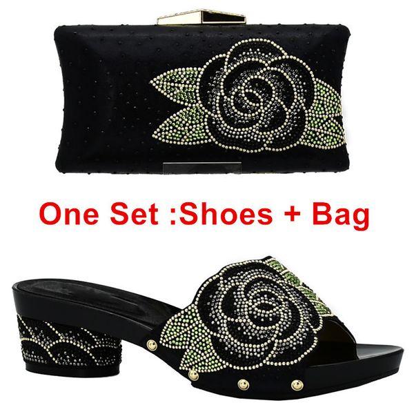 Zapatos negros ang bolsa ang