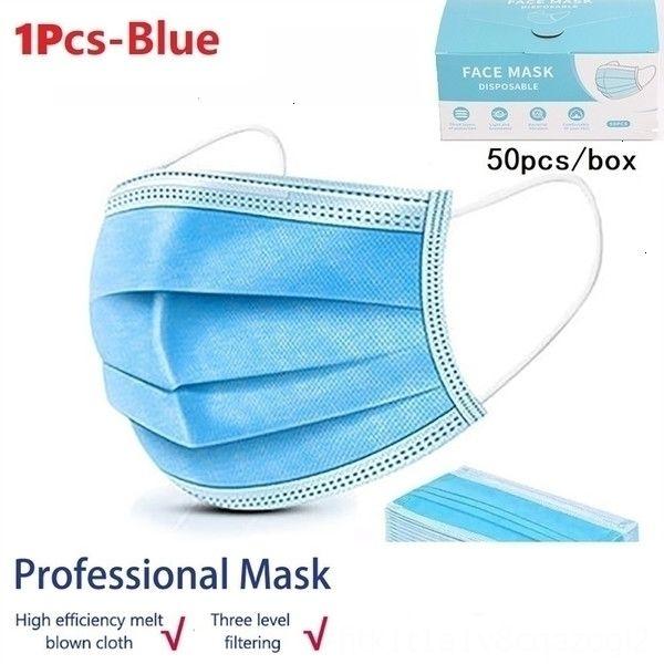 11pcs jetable masque bleu-couleur