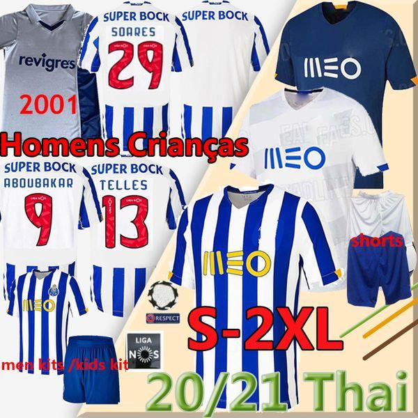 best selling Porto soccer jerseys Fc camisetas de fútbol Oliverira 2020 2021 MAREGA NAKAJIMA MARCANO Retro 2001 Home Men Kits Kids football shirts Pants