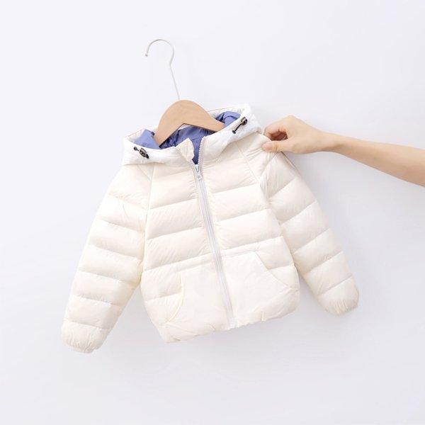 top popular 2-9T Kids Solid Hoodie Coat Winter Child Kids Solid Color Hoodie Zipper Coats Keep Warm Jacket Clothes Roupas Infantil Menina Q1123 2020
