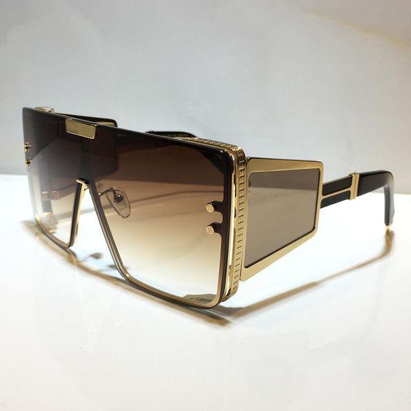 Altın çerçeve degrade kahverengi lens