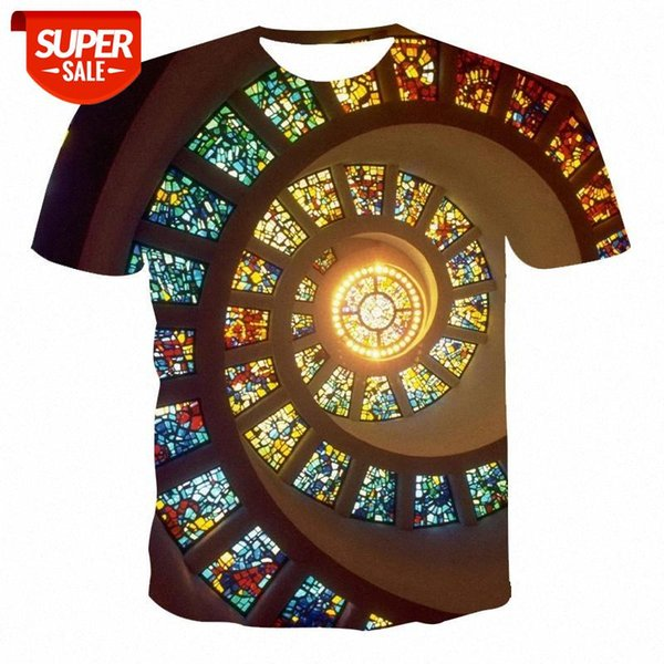 best selling New T-shirt men high quality men's T-shirt short sleeve explosive 3D printed house view men's fashion handom #g49b
