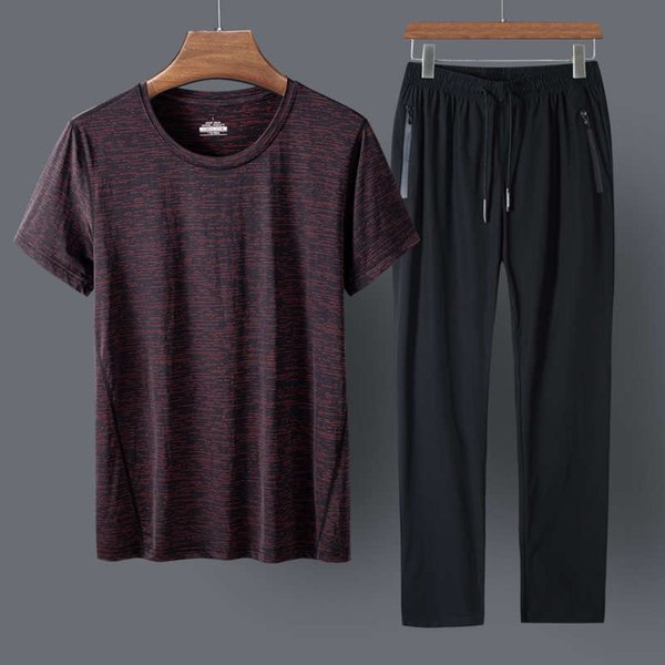 Dark Red Clothes And Black Trousers