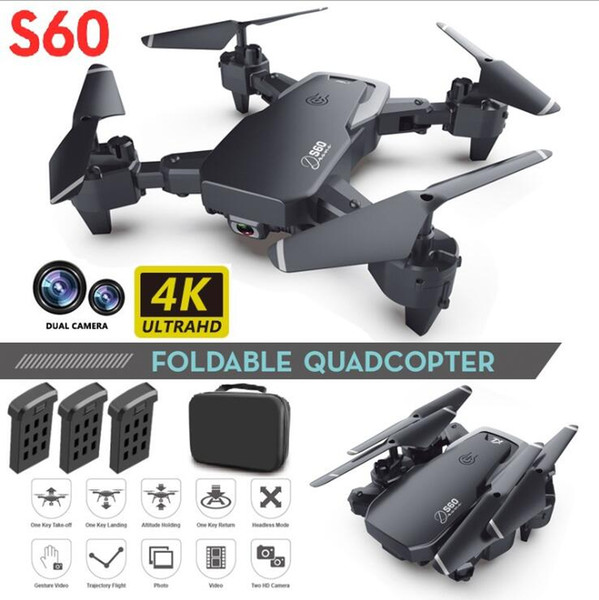 best selling NEW Drone 4k profession HD Wide Angle Camera 1080P WiFi fpv Drone Dual Camera Height Keep Drones Camera Helicopter Toys