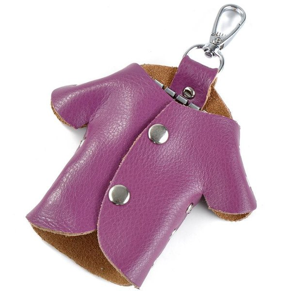 Bolso de llavero púrpura