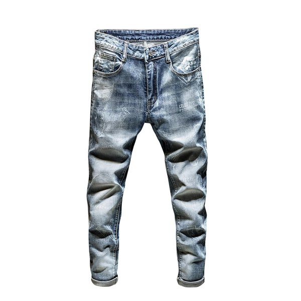 Mens 2021 luxury designer jeans mens skinny jeans diesel biker high waisted slim fit rock revival fashion blue jeans