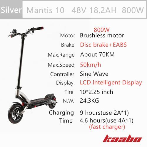 M10 48V 800W Silver