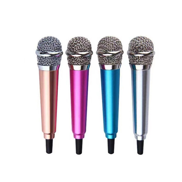 top popular Mini Microphone Jack 3.5mm Studio Lavalier Professional Microphone Handheld Mic Foror Phone Computer Karaoke Good Quality 2021