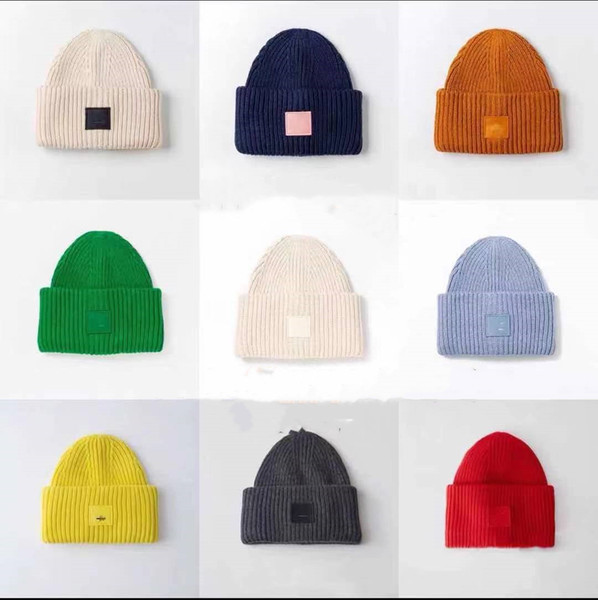 best selling Ac Smiling face Beanie Skull Caps knitted Cashmere Eye Warm Couple Lovers Acne Hats Tide Street Hip-hop Wool Cap Adult Hats