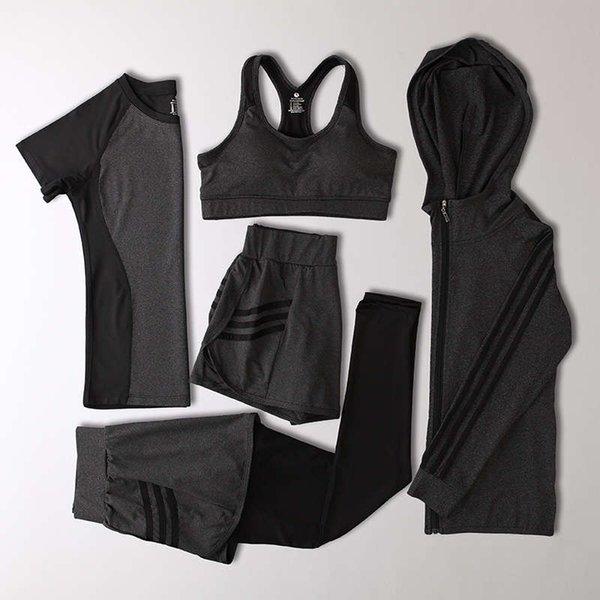 深灰 + 黑 竖 条 外套 五 件 A 款