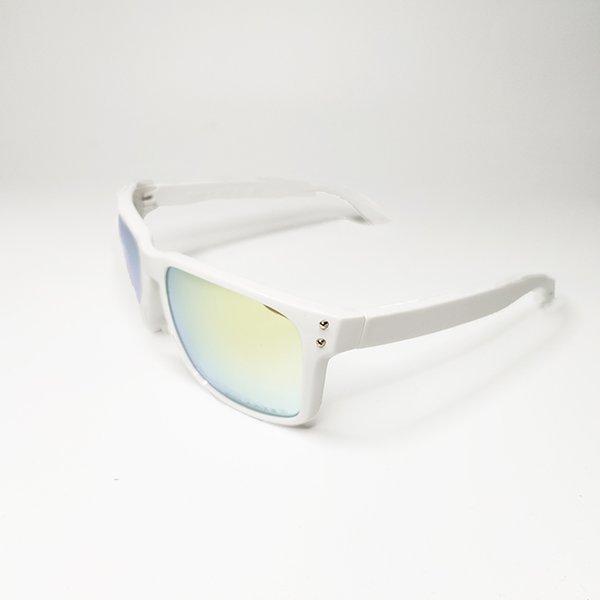 Golss white frame glod lens