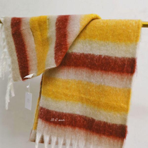 Streifen gelb braun rot-25x220cm