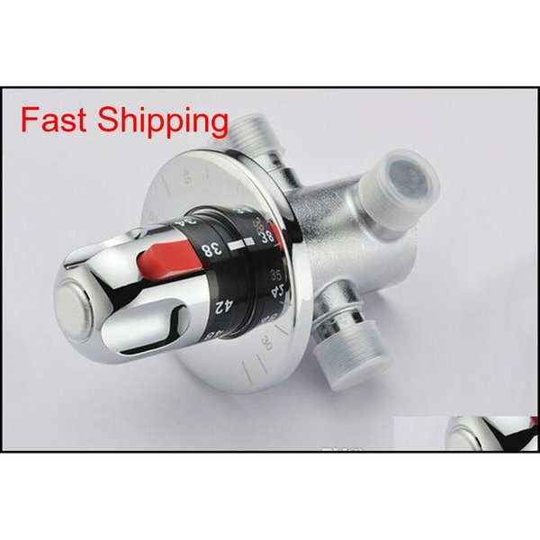 """best selling Free Shipping Brass Thermostatic Mixing Valve G1 2"""" Size Adjust The Mixing Water Temperature Dn15 Thermostatic Va jllBXt insyard"""