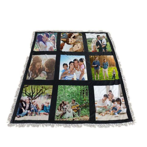 best selling Cheapest! Sublimation Blanket White Blank Blankets for Sublimation Carpet Square Blankets for Sublimating Theramal transfer Printing Rug
