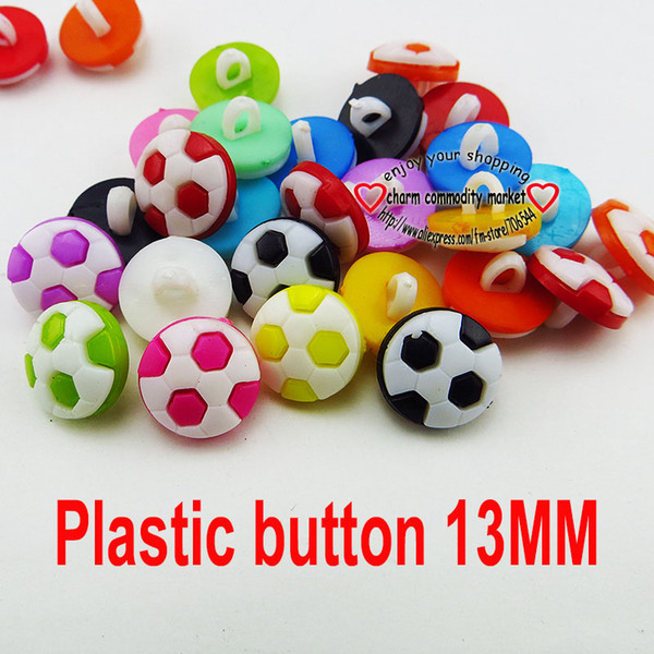 best selling 500PCS 13MM white black football Dyed Plastic buttons coat boots sewing clothes accessory P-177