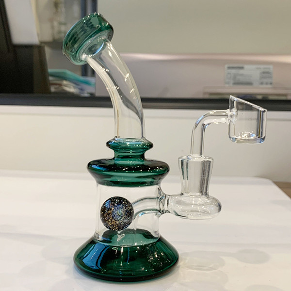 verde com banger de quartzo