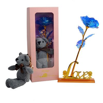 #8Rose + bear + gift box + love