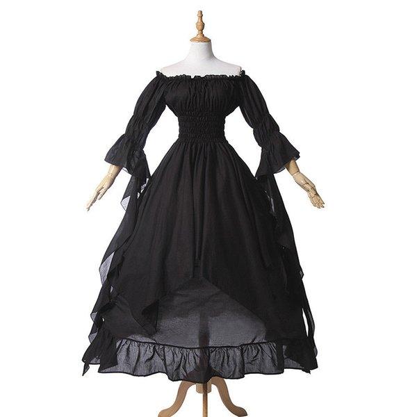Vestito nero gotico