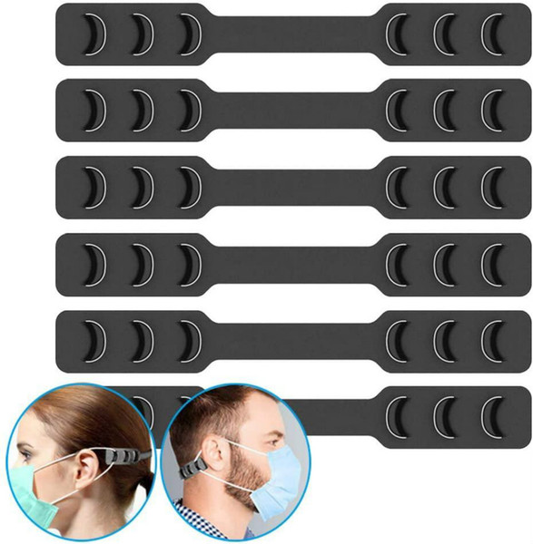 top popular Mask Ear Hook Strap Extender Buckle 3 Gears Adjustable Anti-Slip Protector Savers Special for Relieving Long-time Wearing 2021