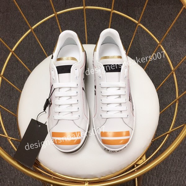 2021TOP NEW Fashion Women Shoes Men's Leather Lace Up Platform Oversized Sole Sneakers White Black Casual hc190902