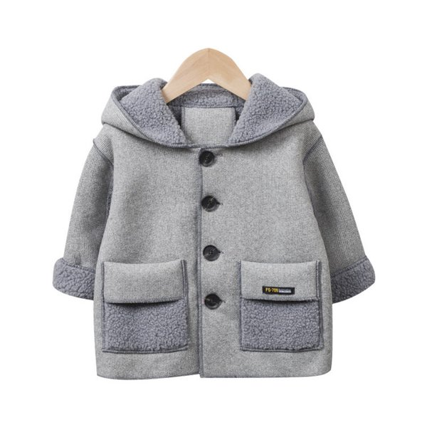 top popular Fashion Children Cotton Clothes Autumn Winter Baby Thicken Hoodies New Toddler Hooded Jacket Infant Casual Clothing Q1123 2020