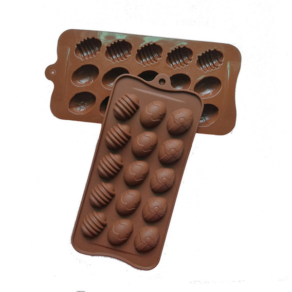 best selling Silicone 15 Hole Egg Shaped Chocolate Mold Mini Easter Eggs Diy Kitchen Decorates Tools Handmade Lollipop Candy Mold Ice Cube G11302