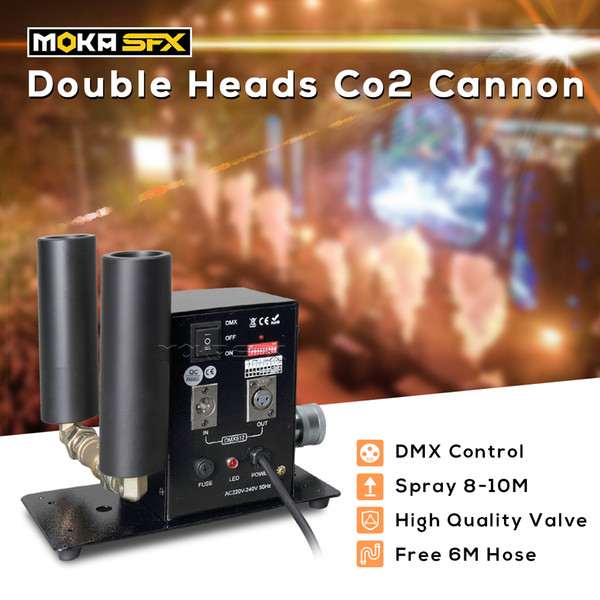best selling Double Pipe CO2 Jet Machine dmx stage special effect cryo co2 jet blaster fog co2 machine spray 10m with 6m hose
