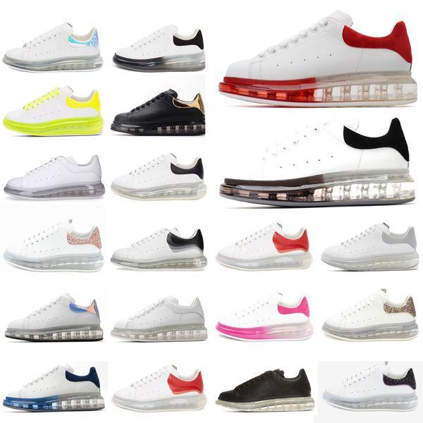 best selling 2021 Leather Sneakers oversiezd espadrilles Men Women flats cushioned espadrille flat White black Platform Cushion Sole Casual Shoes box