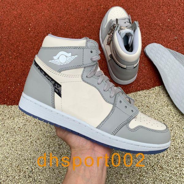 top popular Fashion High Basketball Shoes 1 Di OG White Blue Black Men Sport Outdoor High quality With Original Box CN8607-002 US 5.5-11 2021