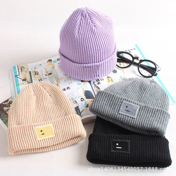 top popular Design the new block embroidery beanie skull hat knitted cashmere thick warm couple hat tide street dance wool hat adult Christmas free ship 2021
