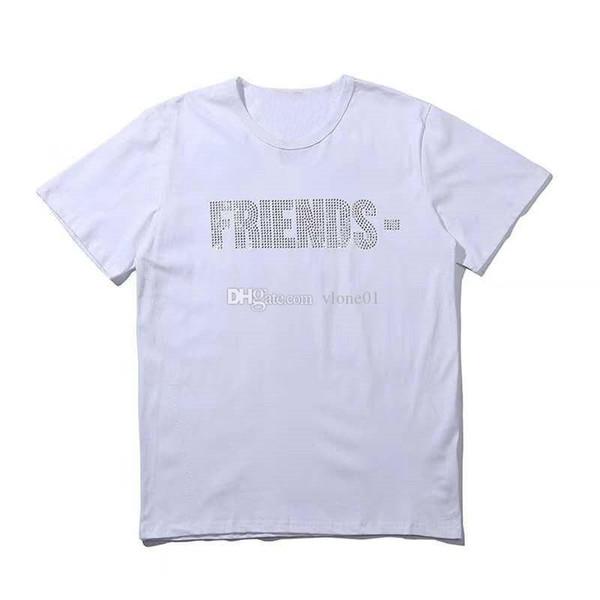top popular Womens T Shirt Tees Hip Hop Womens Tops Friends Cotton Short Sleeve Big Women Mens T shirt 2021