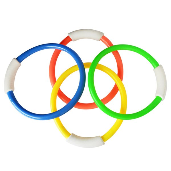 top popular 1PCS Swimming Pool Underwater Diving Rings Children Kids Dive Ring for Summer Beach Water Play Toys Pool Accessory Random Color Q1217 2021