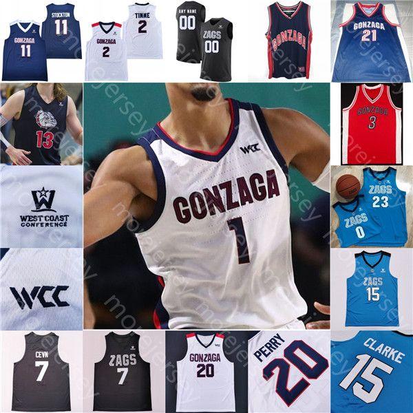 custom gonzaga bulldogs basketball jersey ncaa college stockton ...
