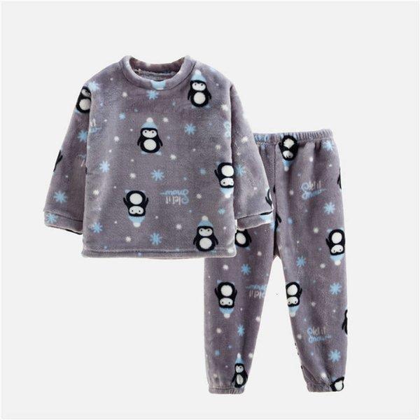 the Little Grey Penguin in Flannel