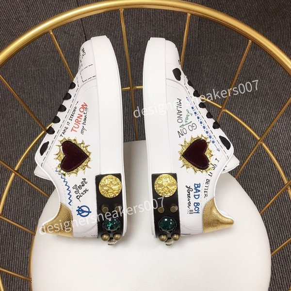 top new Man Fashion Women Shoes Men's Leather Lace Up Platform Oversized Sole Sneakers White Black Casual hc190903