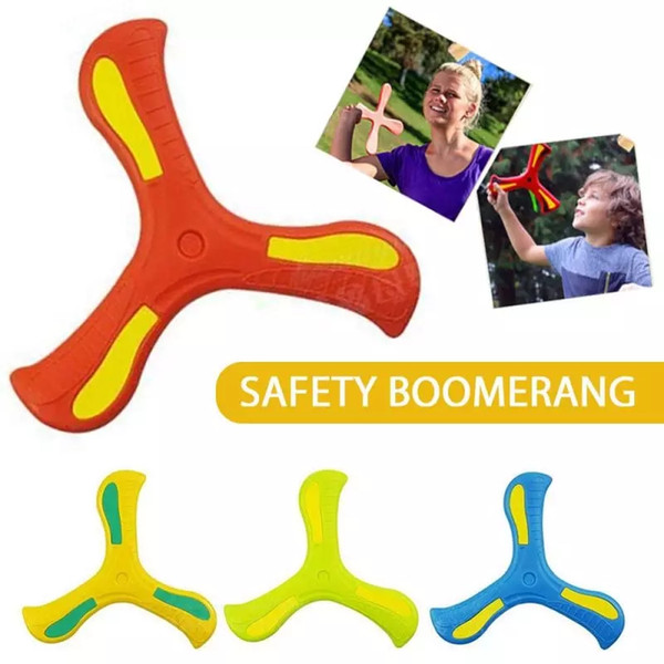 best selling Profesional Boomerang Children's Puzzle Decompression Outdoor Products Funny Interactive Family Throw Catch Toy Sports